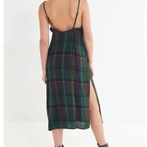 UO Rigby Plaid Maxi Slip Dress
